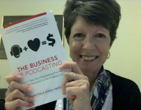 Donna-podcasting-book
